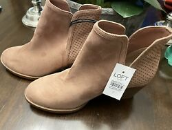 Loft Outlet Pink Suede Ankle Chelsea Boots Size 7 New