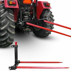 """Tractors 3 Point Trailer Hitch Quick Attach Bale Spear W/ 49"""" Hay Bale Spear"""