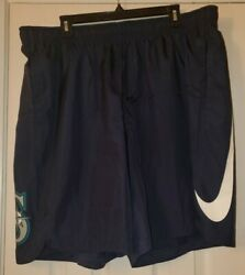 Nike Dri-fit Authentic Collection Mlb Seattle Mariners Shorts Size 2xl