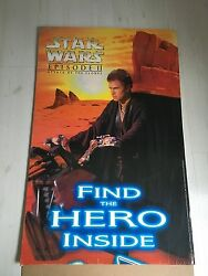 Star Wars Display Attack Of The Clones Anakin Skywalker Giant 37 X 24 Rare