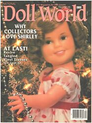 National Doll World Magazine December 1989 Shirley Temple Collectors Lovers