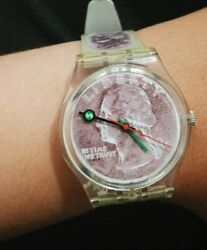 Vintage Swatch Watch Liberty Coin In Time We Trust
