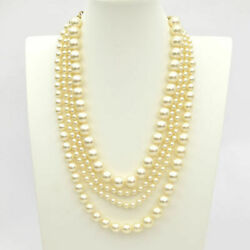 Coco Mark Series Glass Pearl Necklace A14 Gold Fittings 0220384012 _60676