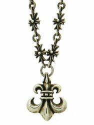 Chrome Hearts Tiny Ch Plus Necklace Bsf Pendant Silver Sv925 Menand039s Women _32150
