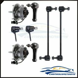 8pc Fits 2005 - 2010 Chevy Cobalt Front Sway Bar End Wheel Hub Tie Rod Parts Abs