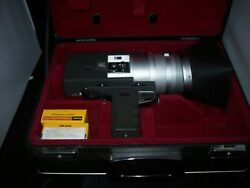 Canon Auto Zoom 518 Super 8 Vintage Film Camera With Hard Case And Film Works