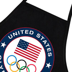 2020 - 2021 Summer Olympics Usa Team Cook Grill Bbq Funny Theme Apron W/ Pockets