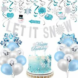 Snowflake Decorations Frozen Birthday Party Supplies With Hanging Snowflakes Swi