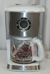 Gevalia Coffee Maker Cm650 Stainless And White New Open Box Pristine 12 Cup
