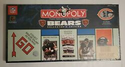 Vtg Chicago Bears Monopoly Collectors Edition Parker Brothers Pewter Tokens New
