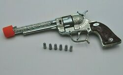Vintage Hubley Bronco 44 Cap Gun With Cap Bullets Works Mint- Free Shipping