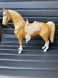 Vintage Breyer Palomino Western Toy Horse with Saddle and Reins