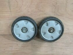 Qty. 2 Of 44710-vh7-000za 8-inch Front Wheel For Honda Hrx217 Lawn Mower Used