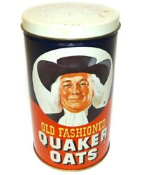 Vintage 1982 Limited Edition Quaker Oats Advertising Tin Canister