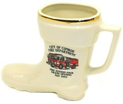 2002 Fire Station 4 Grand Opening City Of Conroe Texas Fire Department Boot Mug