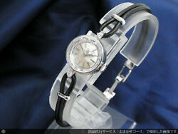 Omega At611.56 Solid Platinum 2p Diamond Cut Glass Cal.483 Luxury Cocktail Watch
