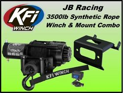 3500lb Stealth Kfi Winch And Mount Combo-yamaha Grizzly 660 2002-2008