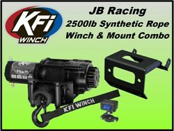 2500lb Kfi Stealth Winch And Mount Combo-yamaha Grizzly 660 2002-2008