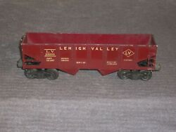 Lionel 6456 Lehigh Valley Hopper. Nice Maroon Addition With Cream Lettering