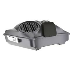 Smoke Gray Dual 8and039and039 Speaker Lids For Advanblack/harley Razor Tour Pak Pack