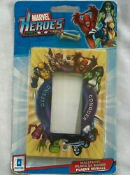 Marvel Heroes Light Switch Cover Outlet Wall Plate Daredevil Wolverine New
