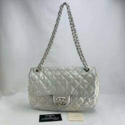 Cruise Lines Fall Winter 2010 Matelasse Quilted Soft Calf Silver S _60728