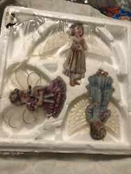 The Braford Editions 'heavens Little Angels' Ornament Collection 3 Ornaments