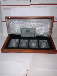 2014 Jfk Silver Half Dollar 4 Coin Set First Day Issue Anacs-rp70 Dcam