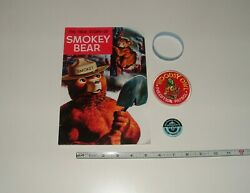 Smokey Bear Story, Pin, And Bracelet And Woodsy Owl Patch, Age Unknown, Pre-owned