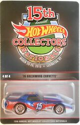 2015 Hot Wheels 15th Annual Collectors Nationals And03976 Greenwood Corvette