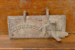 Vintage Minnesota Tractor Implement Cast Iron Tool Box Lid W/oil Can Holder