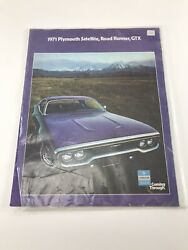 1971 Plymouth Satellite Road Runner Gtx Sales Brochure Booklet Catalog Book Old