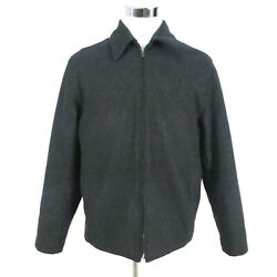 Gap Menand039s Jacket Us S Charcoal Grey Wool Blend Full Zip Collar Quilted Lining