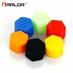 20pcs Silicone 17/19/21mm Car Wheel Nuts Covers Auto Exterior Detailing Designs