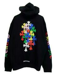 Chrome Heartscemetery Cross Hoodie Multi Colored 1st Most Popular Size