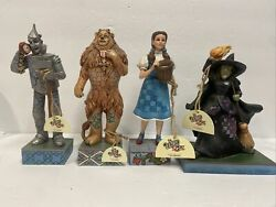 The Wizard Of Oz Jim Shore Figures Lot Tin Man Wicked Witch Dorothy Lion Nwt