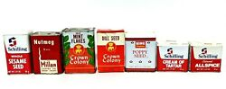 Vintage Spice Tins Box Schilling Crown Colony Millar Coffee Lot Of 7