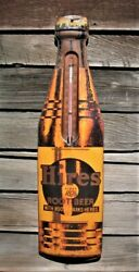 Vintage Large Hires Root Beer Thermometer Sign Shape Of A Bottle Advertising