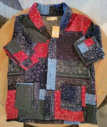 Leviand039s Menand039s Patchwork Cardigan Sweater Mens Size 2xl Dress Blues