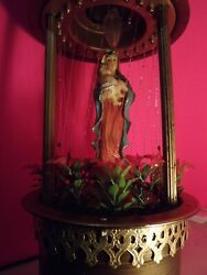 G.w. Mineral Oil Rain Table Lamp W/ Woman And Child 16 T