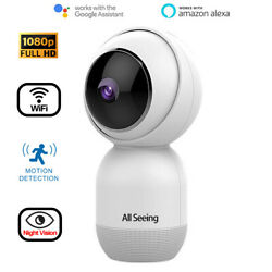 Hd 1080p Wifi Wireless 360° Ptz Zoom Outdoor Red Ir Night Vision Security Camera