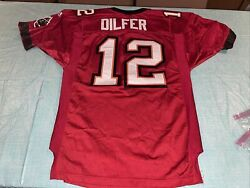 Vtg Tampa Bay Buccaneers 12 Dilfer Adidas Pro Line Authentic Jersey. Size 46