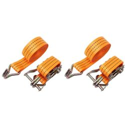 4pcs Durable Ratchet Tie Down Cargo Straps Moving Hauling Truck Motorcycle 15 W7