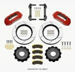 Wilwood Tx6r Front Kit 15.50in Red 2010-up Ford F150 6 Lug - 140-13865-r