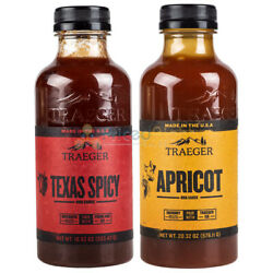 Traeger Texas Spicy And Apricot Bbq Sauce Pack Tangy Sweet Spicy Flavors