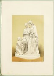 Large 1862 Exhibition Print Finding Of Moses Marble Sculpture By Spence