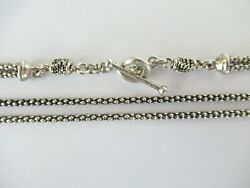 Michael Dawkins Sterling Silver Snake Dot Double Chain Necklace 18