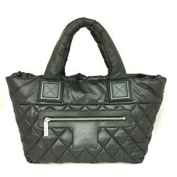 Coco Cocoon Tote Pm Bag Women And039s Black System Nylon Rank Secondhan _67658