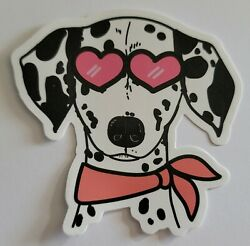 Dalmatian Dog Wearing Sunglasses And Scarf Multicolor Sticker Decal Awesome Cute