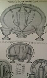 Sterling Silver Tea Coffee Sets 1931 Catalog Page Krower New Orleans Rare Vhtf
